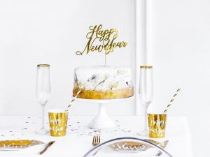 Cake Topper Happy New Year (2) TABATHA PASTELERIA EN MADRID