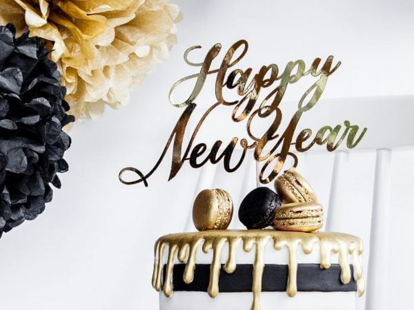 Cake Topper Happy New Year (4) TABATHA PASTELERIA EN MADRID