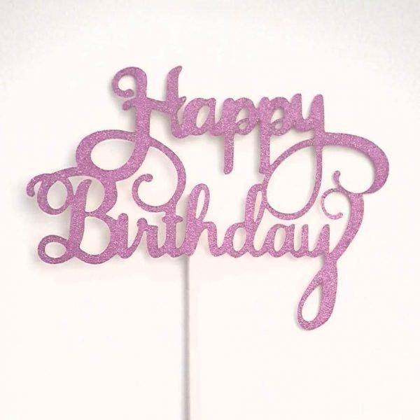 cake topper happy birthday (2) TABATHA PASTELERIA